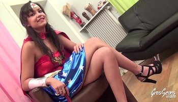Busty mature woman Richelle Ryan takes her coach cock during a workout