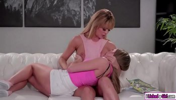 Sexy milf sucks dick of her son-in