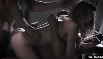 Latina teen gets doggy style banging in bed