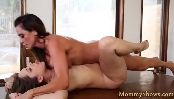 The young man gets a massage by busty milf ass